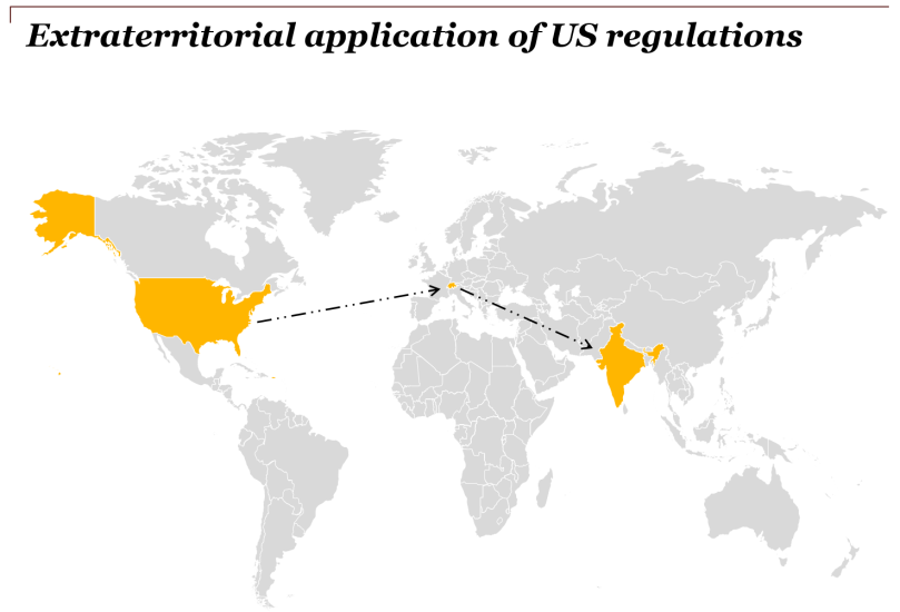 Extraterritorial application of US regulations
