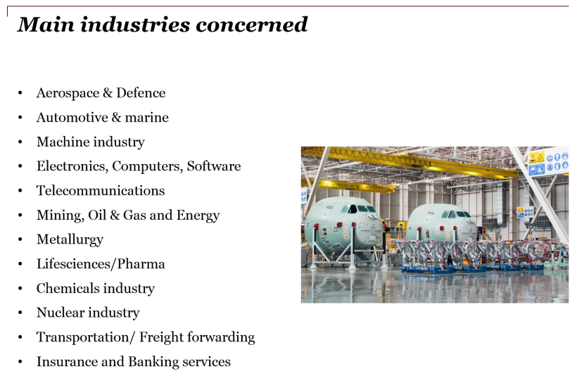 Main industries concerned