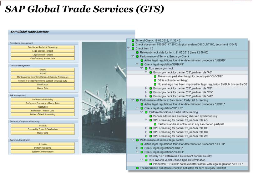 SAP Global Trade Services